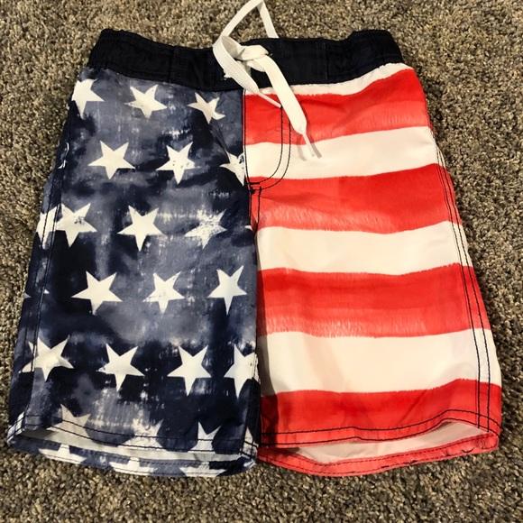 f9fe328744 Old Navy Swim | American Flag Boys Trunks | Poshmark
